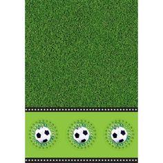 Voetbal tafelkleed - 130x180 cm.