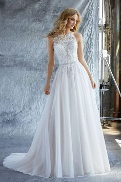 The Morilee wedding dress collection features stunning wedding gowns for every bride. From elegant satin to vintage lace, the Morilee collection has the wedding dress of your dreams. A Line Bridal Gowns, Bridal Wedding Dresses, Wedding Dress Styles, Dream Wedding Dresses, Bridesmaid Dresses, Prom Dresses, Lace Wedding, Bridal Belts, White Bridal Dresses
