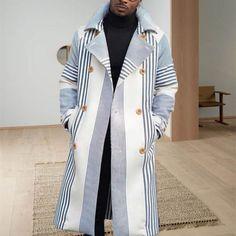 Mens casual fashion coat - salolist.com Fashion Coat, Winter Fashion, Mens Fashion, Fashion Suits, Daily Fashion, Style Casual, Men Casual, Woolen Tops, Mode Mantel