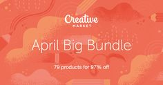 Pick up Creative Market's April Big Bundle. Fonts, Templates, Graphics and More. A $1,229 value... Only $39!