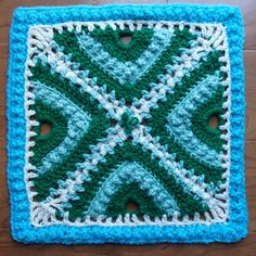 Bee Hives and Clover Afghan Square by Joyce Lewis-free patt on Ravelry