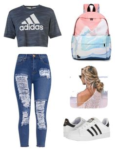 """""""Ummm"""" by zoeymoon01 on Polyvore featuring adidas"""