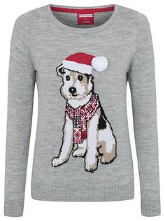 Christmas Dog Knitted Jumper, read reviews and buy online at George at ASDA. Shop from our latest range in Women. Give your day-to-day look a festive makeove...