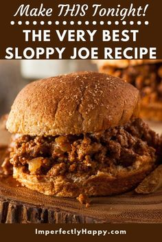 Your Butt Sloppy Joe Recipe Real Ingredients Kick the can to the curb! You can make this easy and delicious homemade Sloppy Joe recipe in a snap!Kick the can to the curb! You can make this easy and delicious homemade Sloppy Joe recipe in a snap! Meat Recipes, Real Food Recipes, Crockpot Recipes, Cooking Recipes, Hamburger Recipes, Salmon Recipes, Cooking Tips, Cake Recipes, Recipies