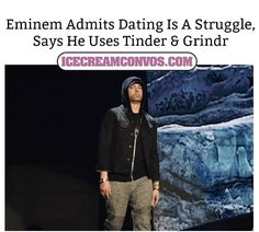 Get the scoop @ IceCreamConvos.com or the ICC app! Link to site in bio.  ___ #Eminem #Dating #Tinder #Grindr #IceCreamConvos
