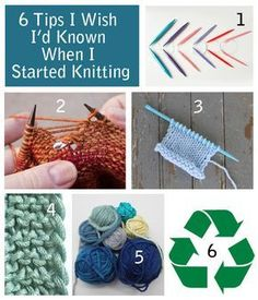 """My latest Craftsy blog post. My original title was """"6 Tips I Wish I'd Known When I Started Knitting"""". The editor added the """"from an expert"""" part to the title! I don't claim to be an expert but I do think these tips will help your knitting.."""
