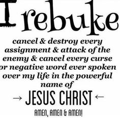 The devil is defeated in Jesus name