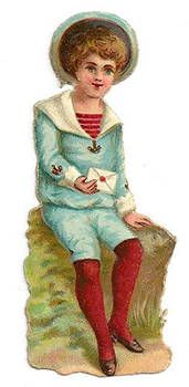 Victorian Boy with Valentine