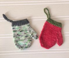 A personal favorite from my Etsy shop https://www.etsy.com/ca/listing/541206894/knitted-mini-mitten-pattern