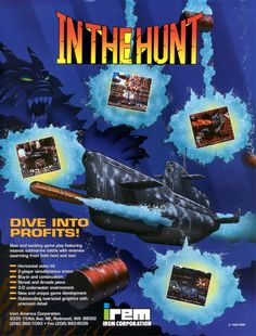 in the hunt, arcade flyer, irem