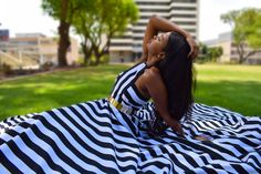 Great for an outdoor event, striped maxi dress with volume for days, perfect for a summers day or an outdoor event. Has side pockets, back zipper, crisscross back straps and lining. Non-stretchy fabric. Comes in 32 - 38 (South African sizes) at R995. Global Shipping available. #elegant #fashion #womensfashion #maxidress #stripeddress Black White Stripes, Black And White, Striped Maxi Dresses, Love Affair, Back Strap, African, Zipper, Pockets, Clothes For Women