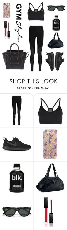 """""""//All Black; All Nike//"""" by b-chotai ❤ liked on Polyvore featuring NIKE, Casetify, Ray-Ban, Gucci and CÉLINE"""