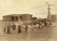 A family farm in Custer County, Nebraska. The picture was taken in 1886. The family is the William Moore family