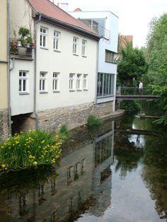 "https://flic.kr/p/tBfTBP | Die Gera an der ""Lange(n) Brücke"" in Erfurt"