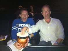 """Posted on Dom's twitter yesterday.    """"Billy falls for the classic """"popcorn trick"""" at the movies with Dom.""""    Hahahahhahaa. They're the best."""