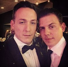 """The Arnold"" Robbert van den Bergh from the musical and Mike Weerts from the tv series! Both amazing actors <3"