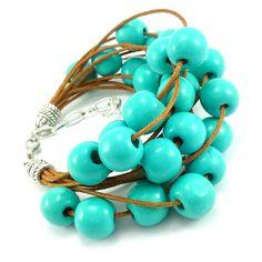 Bransoletka wykonana ręcznie na bawełnianym sznurku jubilerskim w kolorzekarmelowym z drewnianymi koralikami. Klasyczne zapięcie karabińczyk. Koraliki latają po sznurku luzem i nie są do niego przyklejone. Bangles, Bracelets, Turquoise Bracelet, Lens, Metal, Jewelry, Fashion, Moda, Jewlery