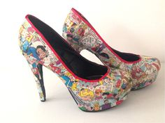 Archie Comic Heels by ComicShoes on Etsy, $64.00