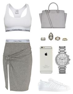 """Untitled #414"" by queenc98 ❤ liked on Polyvore featuring Calvin Klein, River Island, MICHAEL Michael Kors and adidas"