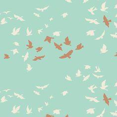 Tissus Art Gallery - Aves Chatter Shine