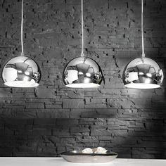 """'Élégant Suspension """"Cooke Suspension avec 3 boules chrome de XTRADEFACTORY: Amazon.fr: Cuisine & Maison"""