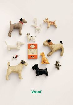 Such a sweet Terrier collection I Love Dogs, Cute Dogs, Smooth Fox Terriers, Wire Fox Terrier, Vintage Dog, Scottie Dog, Old Toys, Beautiful Dogs, Dog Art