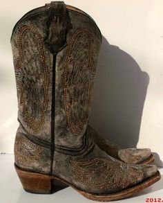 Sz 5 Vintage blackish gray ladies cowboy boots by vintagetruth, $85.00