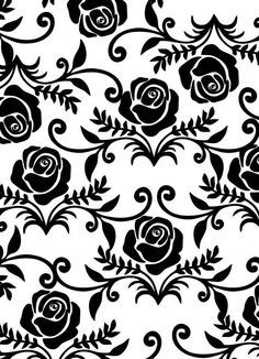 Image discovered by foreverland. Find images and videos about black and white, wallpaper and roses on We Heart It - the app to get lost in what you love. Cute Wallpapers, Wallpaper Backgrounds, White Wallpaper, Black N White Images, Black And White, Organic Art, Stencil Patterns, Cellphone Wallpaper, Hand Embroidery Designs