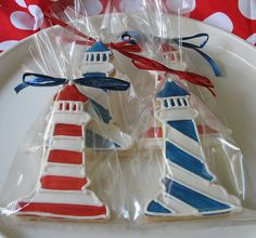 Light House cookies!  Perfect for My cubie @Christy Romney Hampton 's trip to NC this summer!  ;-)