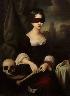 ~ Living a Beautiful Life ~ art horror supernatural skull Anatomy goth gothic paranormal victorian victorian era occult fine art painter renaissance seance occultism human skull Human Bones Occultist Everyday is Halloween stephen mackey gothic era