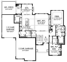 Floor Plans AFLFPW01301 - 1 Story Craftsman Home with 2 Bedrooms, 2 Bathrooms and 2,107 total Square Feet