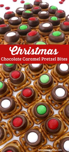 Our Christmas Chocolate Caramel Pretzel Bites are easy to make and super delicious. They are one of our favorite Christmas Desserts! Sweet, salty, crunchy and festive, your Christmas Party guests will clamor for more of these yummy Christmas Treats! Follow us for more great Christmas Food Ideas.