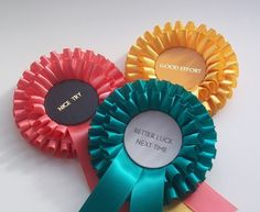 brilliant prize ribbons. etsy. better luck next time....