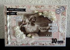min lille scrappe-verden: Konfirmantkort jente Kaisercraft