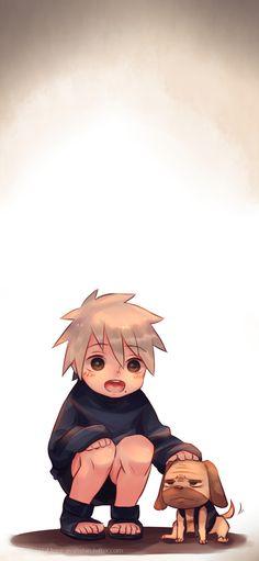 Kakashi y Pakkun Naruto Kakashi, Anime Naruto, Naruto Cute, Cowboy Bebop, Blue Exorcist, Manga, Inu Yasha, Avatar, Uzumaki Boruto