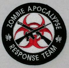 Tactical Morale Patch Velco Backed Zombie Hunting Apocalypse Response Team