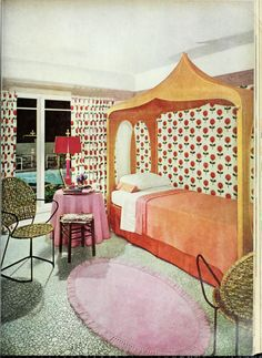 Retro Bedrooms, Feng Shui, Cribs, 1970s, Room Ideas, Shabby Chic, Mid Century, Couch, Homes