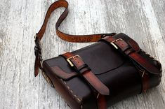 custom-carved messenger bag - by HAUSleather