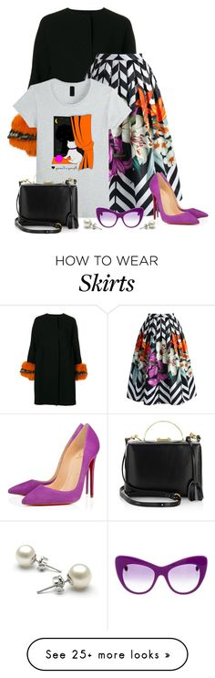 """""""Colourfulness that intrigues."""" by tuomoon on Polyvore featuring Ermanno Scervino, Chicwish, Christian Louboutin, Mark Cross and STELLA McCARTNEY"""