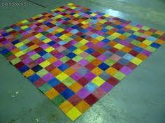 Resultado de imagen para alfombras de cuero con pelo