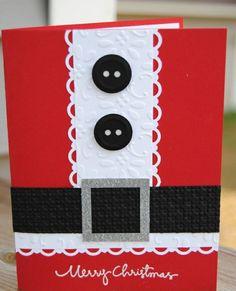bastelideen für weihnachten weihnachtskarten basteln weihnachtsmann