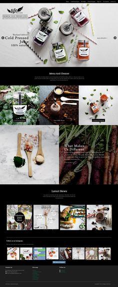 Life Potion cold pressed juice website design