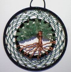 Hand-crafted Tree of Life Dream Catcher by TwistedFingerDesigns
