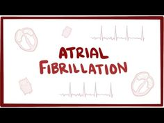 Atrial fibrillation (A-fib, AF) - causes, symptoms, treatment & pathology - YouTube