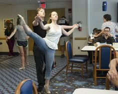 Dancers from the Ohio Conservatory of Ballet gave an impromptu performance at Akron Children's as part of the Knight Foundation's Random Acts of Culture.