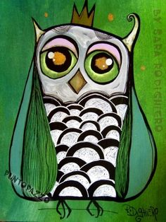 'Little Royal Owl' by Sara Rodighiero