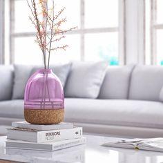 Pitaro vase in orchid purple glass
