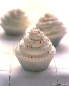 How to make Swirly Cupcakes. Tip: Chill the bowl before whipping the cream to add volume.