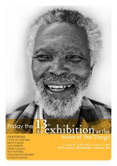 Flyer design for my dear friend Pieter Vosloo's exhibition My Dear Friend, Flyer Design, Einstein