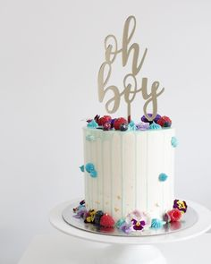 """Oh Boy Cake Topper Designed to fit a 6"""" cake"""